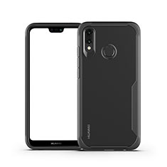 Carcasa Bumper Funda Silicona Transparente Espejo M01 para Huawei P20 Lite Negro
