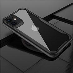 Carcasa Bumper Funda Silicona Transparente Espejo M02 para Apple iPhone 12 Mini Negro