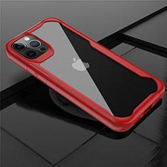 Carcasa Bumper Funda Silicona Transparente Espejo M02 para Apple iPhone 12 Pro Max Rojo