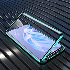 Carcasa Bumper Funda Silicona Transparente Espejo M02 para Oppo A91 Verde
