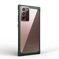 Carcasa Bumper Funda Silicona Transparente Espejo M02 para Samsung Galaxy Note 20 5G Verde