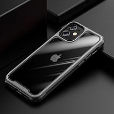 Carcasa Bumper Funda Silicona Transparente Espejo M03 para Apple iPhone 12 Mini Gris
