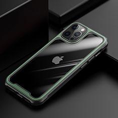 Carcasa Bumper Funda Silicona Transparente Espejo M03 para Apple iPhone 12 Pro Max Verde