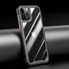Carcasa Bumper Funda Silicona Transparente Espejo M04 para Apple iPhone 12 Pro Max Negro