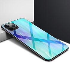 Carcasa Bumper Funda Silicona Transparente Espejo N01 para Apple iPhone 12 Pro Cian