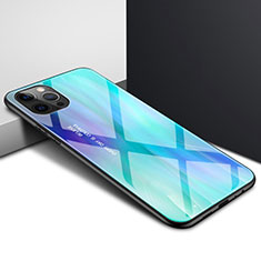 Carcasa Bumper Funda Silicona Transparente Espejo N01 para Apple iPhone 12 Pro Max Cian
