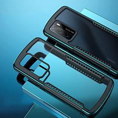 Carcasa Bumper Funda Silicona Transparente Espejo N01 para Huawei P40 Cian