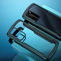 Carcasa Bumper Funda Silicona Transparente Espejo N01 para Huawei P40 Pro Cian