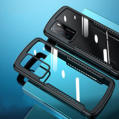 Carcasa Bumper Funda Silicona Transparente Espejo N02 para Huawei P40 Negro