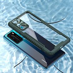 Carcasa Bumper Funda Silicona Transparente Espejo N03 para Huawei P40 Verde Noche