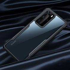 Carcasa Bumper Funda Silicona Transparente Espejo N07 para Huawei P40 Pro Negro