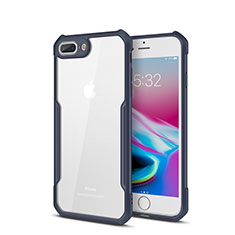 Carcasa Bumper Funda Silicona Transparente Espejo P01 para Apple iPhone 8 Plus Azul