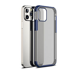 Carcasa Bumper Funda Silicona Transparente Espejo para Apple iPhone 12 Max Azul