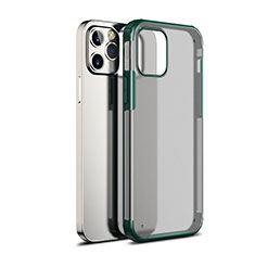 Carcasa Bumper Funda Silicona Transparente Espejo para Apple iPhone 12 Max Verde