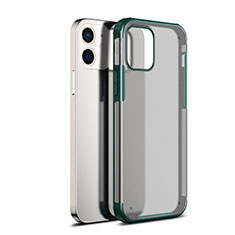 Carcasa Bumper Funda Silicona Transparente Espejo para Apple iPhone 12 Mini Verde