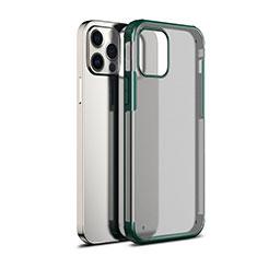 Carcasa Bumper Funda Silicona Transparente Espejo para Apple iPhone 12 Pro Max Verde