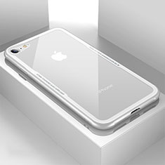 Carcasa Bumper Funda Silicona Transparente Espejo para Apple iPhone SE (2020) Blanco