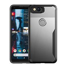 Carcasa Bumper Funda Silicona Transparente Espejo para Google Pixel 3 Negro