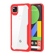 Carcasa Bumper Funda Silicona Transparente Espejo para Google Pixel 4a Rojo