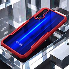 Carcasa Bumper Funda Silicona Transparente Espejo para Huawei Honor 20 Rojo