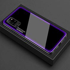 Carcasa Bumper Funda Silicona Transparente Espejo para Huawei Honor Play4 Pro 5G Morado