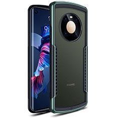 Carcasa Bumper Funda Silicona Transparente Espejo para Huawei Mate 40 Verde