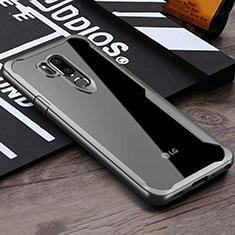 Carcasa Bumper Funda Silicona Transparente Espejo para LG G7 Gris