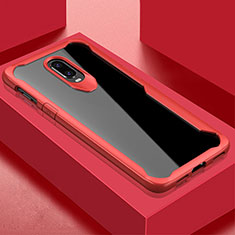 Carcasa Bumper Funda Silicona Transparente Espejo para OnePlus 6T Rojo