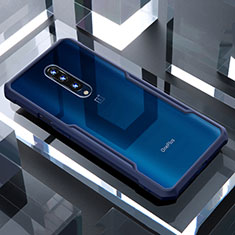 Carcasa Bumper Funda Silicona Transparente Espejo para OnePlus 7 Pro Azul