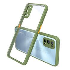 Carcasa Bumper Funda Silicona Transparente Espejo para Realme 7 Pro Verde