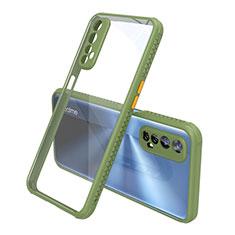 Carcasa Bumper Funda Silicona Transparente Espejo para Realme 7 Verde