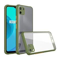 Carcasa Bumper Funda Silicona Transparente Espejo para Realme C11 Verde