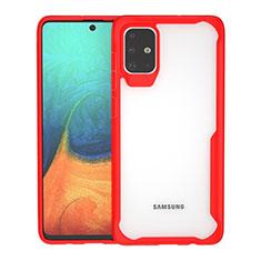 Carcasa Bumper Funda Silicona Transparente Espejo para Samsung Galaxy A71 5G Rojo