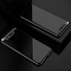 Carcasa Bumper Funda Silicona Transparente Espejo para Samsung Galaxy A80 Negro