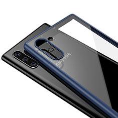 Carcasa Bumper Funda Silicona Transparente Espejo para Samsung Galaxy Note 10 5G Azul