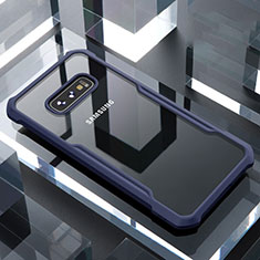 Carcasa Bumper Funda Silicona Transparente Espejo para Samsung Galaxy S10e Azul