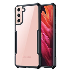 Carcasa Bumper Funda Silicona Transparente Espejo para Samsung Galaxy S21 5G Negro