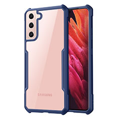 Carcasa Bumper Funda Silicona Transparente Espejo para Samsung Galaxy S21 Plus 5G Azul