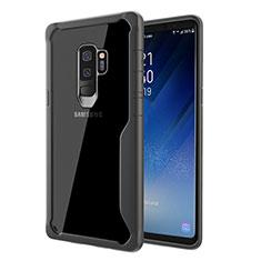 Carcasa Bumper Funda Silicona Transparente Espejo para Samsung Galaxy S9 Plus Gris