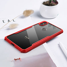 Carcasa Bumper Funda Silicona Transparente Espejo para Xiaomi Mi Mix 3 Rojo