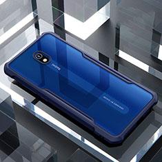 Carcasa Bumper Funda Silicona Transparente Espejo para Xiaomi Redmi 8A Azul