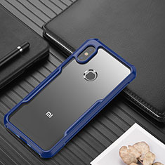 Carcasa Bumper Funda Silicona Transparente Espejo para Xiaomi Redmi Note 6 Pro Azul