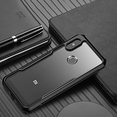 Carcasa Bumper Funda Silicona Transparente Espejo para Xiaomi Redmi Note 6 Pro Negro