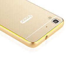 Carcasa Bumper Lujo Marco de Aluminio para Huawei Honor 4A Oro
