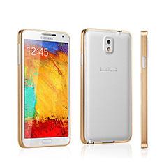 Carcasa Bumper Lujo Marco de Aluminio para Samsung Galaxy Note 3 N9000 Oro