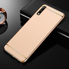 Carcasa Bumper Lujo Marco de Metal y Plastico Funda M01 para Huawei Enjoy 10 Oro