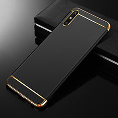 Carcasa Bumper Lujo Marco de Metal y Plastico Funda M01 para Huawei Enjoy 10e Negro