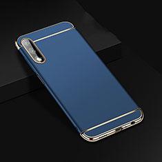 Carcasa Bumper Lujo Marco de Metal y Plastico Funda M01 para Huawei Honor 9X Azul