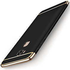 Carcasa Bumper Lujo Marco de Metal y Plastico Funda M01 para Huawei Honor Play 5X Negro