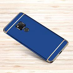 Carcasa Bumper Lujo Marco de Metal y Plastico Funda M01 para Huawei Mate 20 X Azul